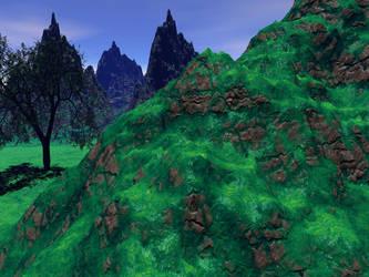 Mossy Hills - 3D by trav1085