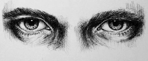 inktober06 - eyes by iva-draws