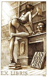 Ex Libris - The library by Piotr-Naszarkowski