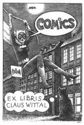 Ex Libris - Batwoman by Piotr-Naszarkowski