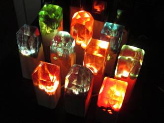 Latest Batch of Fire Lamps! by EarthenPony