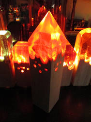 Pyramid Fire Lamp + Just  Launched a Kickstarter! by EarthenPony