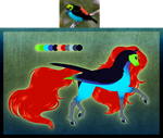MLP - Paradise Tanager Pegasus Adoptable (OPEN) by SilverWolf866