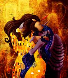 The Kiss (Speedpaint) by SilverWolf866