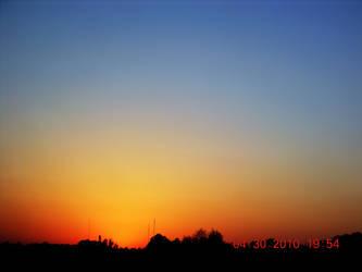 Coastal City Sunset by CheyLovesU