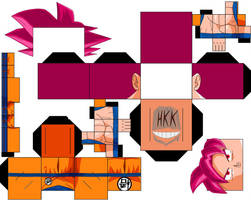 Goku Ssjg Redo by hollowkingking