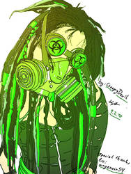 Cyber-Goth Green by CreepyDevil