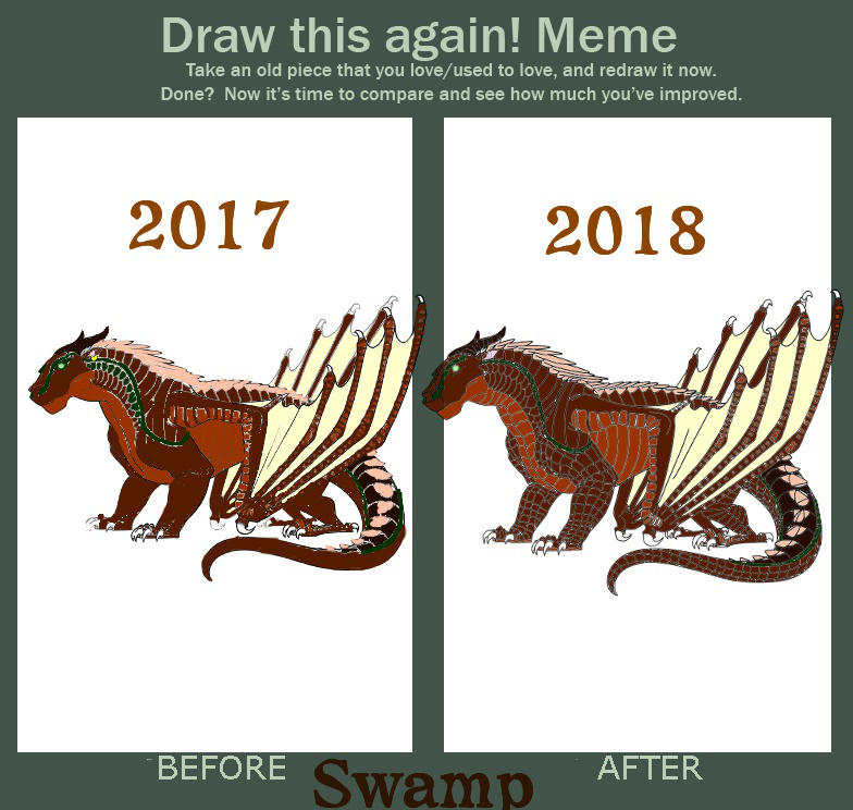 Draw This Again Meme Swamp By Scorpionninjagirl On Deviantart