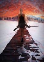 Snow pier by DJMadameNoir