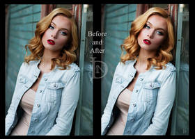 blue eyed angel retouch by DJMadameNoir