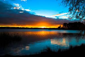 Australian Sunset by yoshmeister