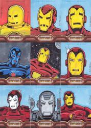 Iron Man 2 sketchcards by billmeiggs