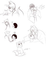 Kamisama Kiss doodles by CrazyKuri-chan