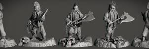 Gotrek Gurnisson | Sculpt by erenozel