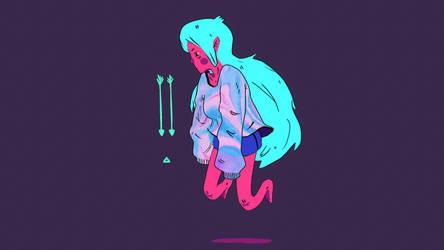 Neon Girl by erenozel