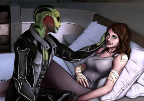 Thane and Shepard by MariahGem