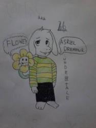 [Undertale] Asriel and Flowey by KNS27