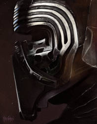 Kylo Ren - Portrait Study - by - Mat Andre by MatAndre