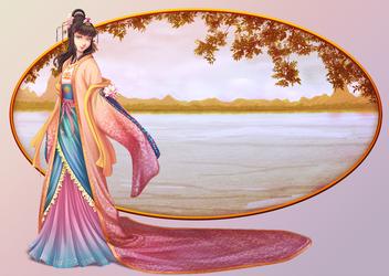 Watercolor Lotus by Miisu