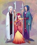 White Vermillion Azure -- For SengokuLegends by Miisu