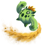 Cacnea - Sand Attack by KelpGull
