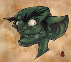 Goblin Speed Paint by GhostHause