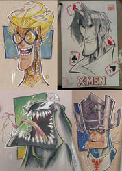 Wizard World Austin:  Marvel Commissions! by GhostHause