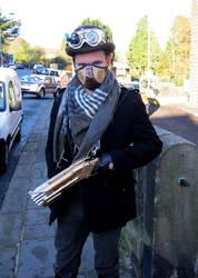 Steampunk bounty hunter by marcobrunez