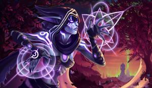 Thalyssra - First Arcanist in the Court of Suramar by BladeofAvilliva