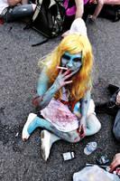 Zombie Smurfette by leandroaguirre