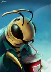 Bee happy (remake) by AlexLandish