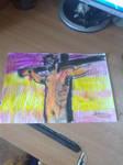 oil pastel Jesus Christ by vuk99