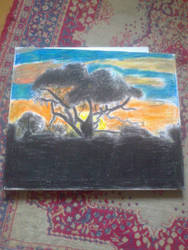 Oil pastel painting on canvas by vuk99