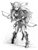 Elf Archer by EUDETENIS