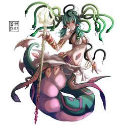 Naga Medusa by EUDETENIS