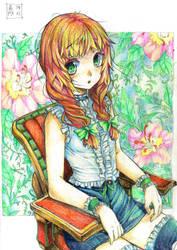 Girl Sitting by EUDETENIS