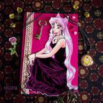 Black Lady postcard making by heiseihi