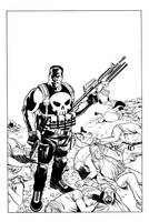 Punisher inked by angryrooster