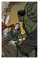 Bizarro vs Hulk Colored by angryrooster