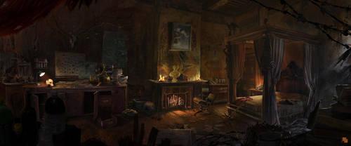 Bedroom by FlorentLlamas