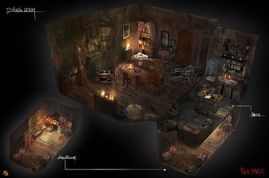 Dining room by FlorentLlamas