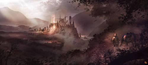 medieval city by FlorentLlamas