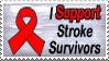 support stroke survivors stamp by Garassi
