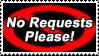 No Request Please Stamp by Garassi