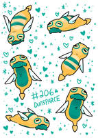 Dunsparce by LexisSketches