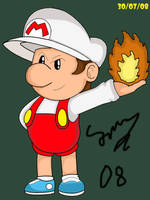 Fire Baby Mario by mariotime92