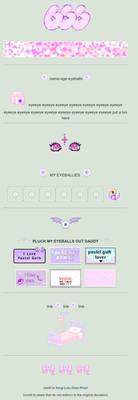 Pastel Goth Eyes (f2u custom box code) by FalafelFeline