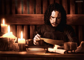 Jon Snow Candlelight!! by geosis093
