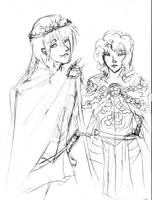 Renly and Loras by TheQueenMab
