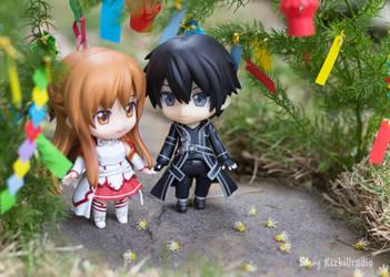 Kirito and Asuna by kixkillradio